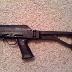Saiga 12, Custom Pistol Grip Conversion, Saw Style Grip, Custom Fit Receiver Endplate, Side Folding Adapter, Tromix Stock