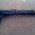 Saiga 12, Custom Pistol Grip Conversion, SGM Tri-rail Handguard, Saw Style Grip